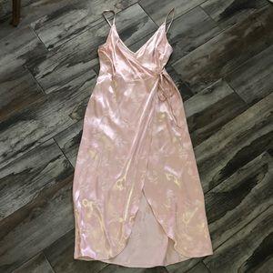 TopShop Satin Wrap Dress